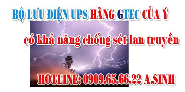 UPS GTEC chống sét lan truyền